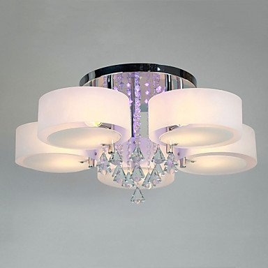 Kristallleuchter, 6-Licht, Modern, Metall, Acrylmalerei