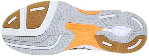 AsicsGEL-TASK MT - Scarpe da Pallavolo Uomo Weiss (White/Silver/Neon Orange 0193)
