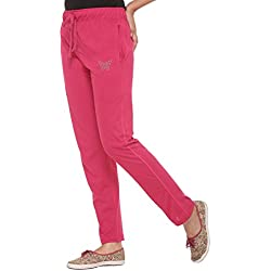 CUPID PINK REGULAR FIT WOMEN'S TRACK PANTS (LTO 5XL SIZES) (MEDIUM)