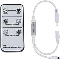 LEDMO Telecomando regolatore dimmer striscia led 12V 6A per strisce led 5 metri bianco/bianco caldo IR 6 chiave Wireless Controller,Statico,Flash,Fade