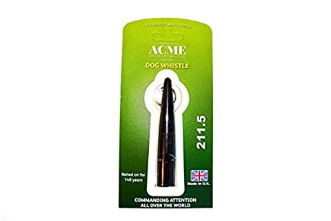 Acme 211.5 Dog Training Whistle - by Dog & Field 4 Colour Options (Black)