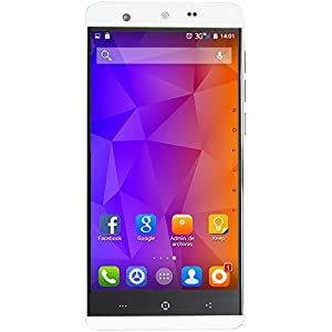 Triton White 5.1 4G Android Mobile Phone, Dual SIM, Unlocked, 12.7 cm (5 'wevool] Quad Core 13.0MP 5.0MP, 2GB/16GB