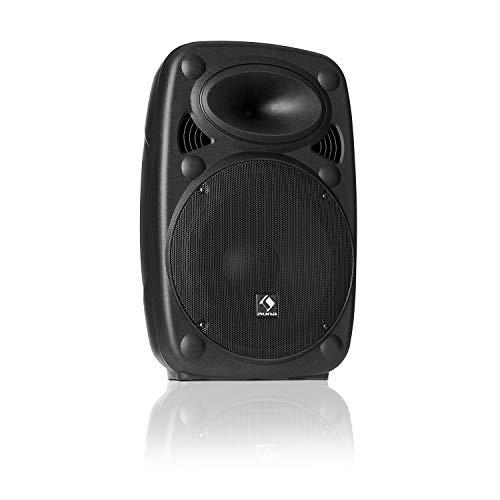 auna SLK-8-A • Altoparlante PA attivo • Sistema PA mobile • 8' (20 cm) • 300 W max • Tecnologia Bass XMR • Bluetooth • USB • SD • MP3 • Linea Ingresso/uscita • Connessione flangia • nero