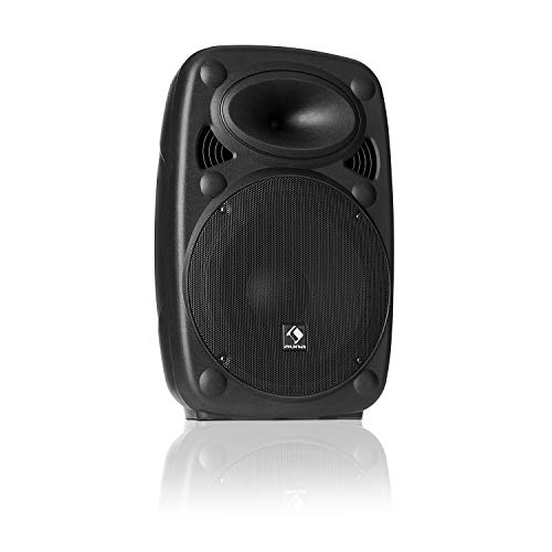 "auna SLK-8-A • Aktiver PA Lautsprecher • mobile PA Anlage • Bodenmonitor • 8\"" (20 cm) • 300 W max. • XMR Bass Technology • Bluetooth • USB • SD • MP3 • Line In/Out • Flansch-Anschluss • schwarz"