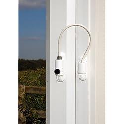 uPVC Kabel Fenster Türriegel. Kindersicherung. Geeignet für Fenster & Türen–Weiß