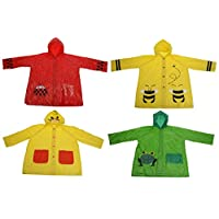 Bahia Vista Rain Poncho Rain Jacket for Kids Boys and Girls Various Designs, duck, Large