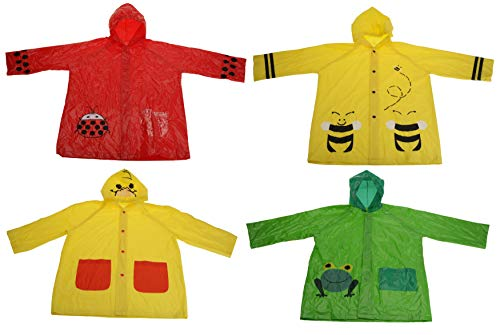 Bahia Vista Rain Poncho Rain Jacket for Kids Boys and Girls Various Designs