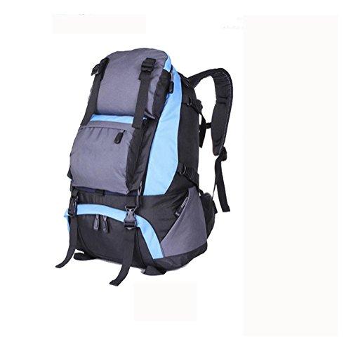 Rucksack 40L Outdoor Travel Backet Reise Bergsteigen Tasche light blue