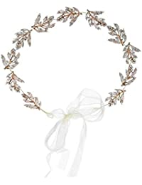 Tiara nupcial, banda para el cabello hecha a mano con forma de hoja de aleación, accesorios de boda, accesorios para el cabello, té chica de fiesta