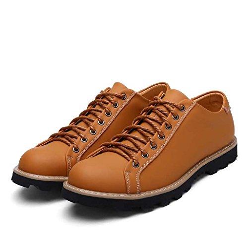 ZXCV Scarpe all'aperto New Low Martin Scarpe da uomo Trend Fashion Leather Tooling Shoes Abbigliamento sportivo per la gioventù Outdoor Scarpe sportive per il tempo libero Giallo