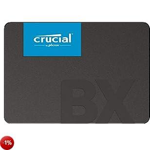 Crucial BX500 CT480BX500SSD1 SSD Interno, 480 GB, 3D NAND, SATA, 2.5 pollici