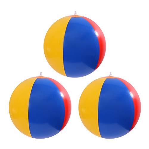 Toyvian palloni da spiaggia gonfiabili pallina colorata per arcobaleno per piscina (colore casuale) - 3 pezzi