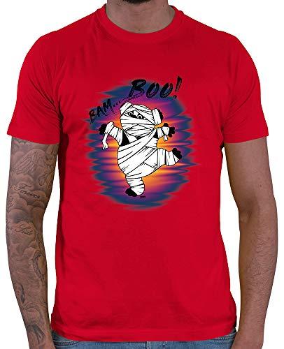 t Bam Boo Pandabär Mumie Halloween Kostüm Verkleidung Kürbis Plus Geschenkkarten Rot XXL ()