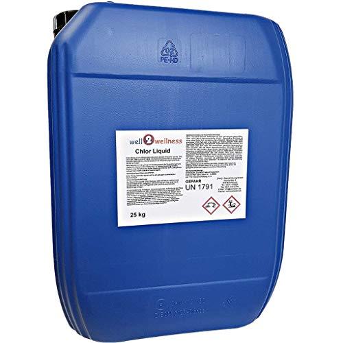 well2wellness Chlor Liquid Chlor flüssig stabilisiert mit 13% Aktivchlor 25 kg