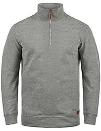 Blend Aliere Herren Sweatshirt Pullover Troyer Pulli Mit Stehkragen  Wahlweise mit Teddy-Futter c195960145