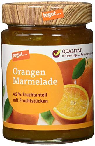 tegut... Orangen Marmelade mit Fruchtstücken, 340 g