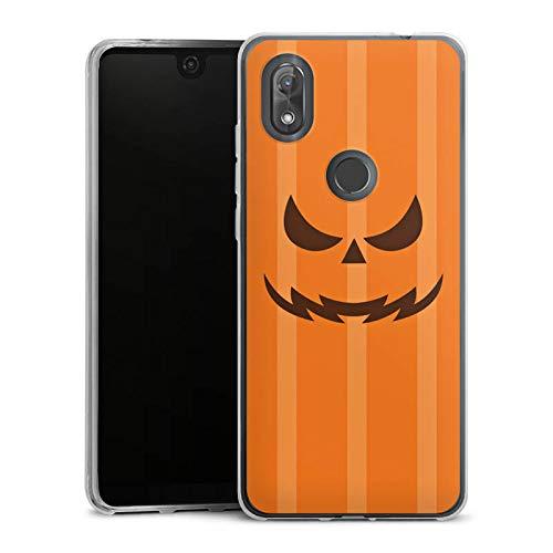 DeinDesign Silikon Hülle kompatibel mit Wiko View 2 Case Schutzhülle Gesicht Halloween Gruselig