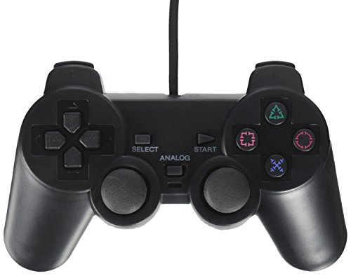 OSTENT Cablato Analogico Controller Gamepad Joystick Joypad per Sony Playstation PS2 PS1 PS One PSX Console Dual Shock Vibration Video Games