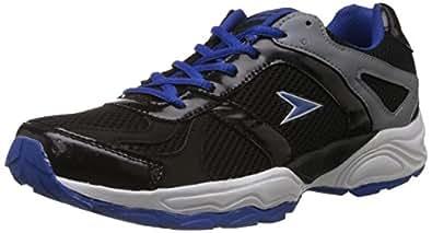 Power Men's Alwin Black Canvas Running Shoes - 6 UK (8396040)