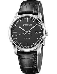 01636c5cf948 Calvin Klein Reloj Analógico para Hombre de Automático con Correa en Cuero  K5S341CZ
