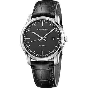 Calvin Klein Herren Analog Automatik Uhr mit Leder Armband K5S341CZ