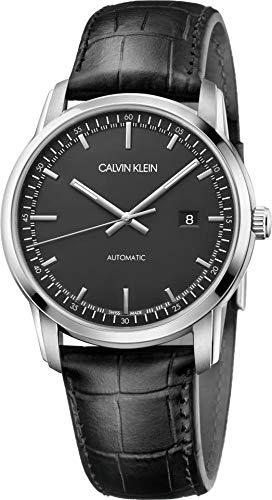 Calvin Klein Reloj Analógico para Hombre de Automático con Correa en Cuero K5S341CZ
