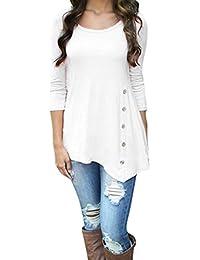 85031d261f2 Weant Women Sweatshirt Long Sleeve Button Pullover Sweatshirt Sweater  Jacket Coat Tunic Tops Jumper Womens Sale