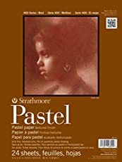 Strathmore 403900 80-Pound 24-Sheets Strathmore Assorted Pastel Paper Pad, 9-Inch by 12-Inch