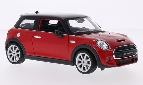 Mini Cooper S, rot/schwarz, 2014, Modellauto, Fertigmodell, Welly 1:24