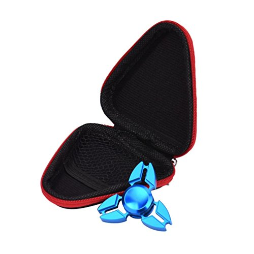 Kolylong Gift For Fidget Hand Spinner Triangle Finger Toy Focus ADHD Autism Bag Box Case