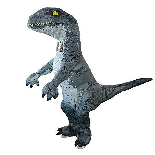 Dinosaurier Aufblasbare Kostüm World Jurassic - Bescita Jurassic World Ausstattungs Velociraptor Sprengen Halloween Cosplay Erwachsenes aufblasbares Dinosaurier Kostüm