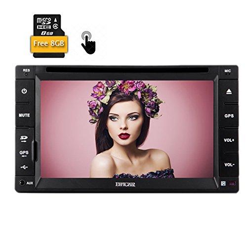 Eincar New 6,2 pouces Double 2 din GPS Navigation DVD de voiture Lecteur CD vidéo HD capacitifs Muilt-touch stéréo numérique de voiture écran Audio FM AM RDS Radio Bluetooth Autoradio USB / SD / Free 8GB Carte Card