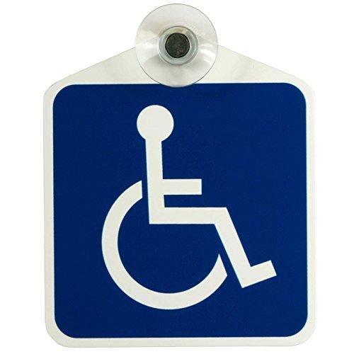 Schild, Autoschild Rollstuhl/Rollstuhlfahrer/Behindertentransport