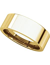 14ct Yellow Gold, Flat Comfort Fit Wedding Band 7MM (sz H to Z5)
