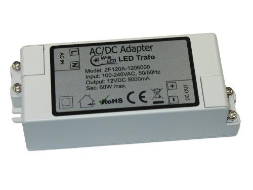 70w Vorschaltgerät (LED-TRAFO 12V-DC 60W max. Transformator-Netzteil 5A)
