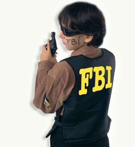 FBI Polizei Schutz Weste Kinder Kostüm Gr (Fbi Kostüm Für Jungen)