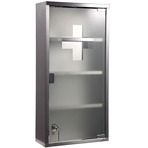 homcom 02 0330 edelstahl medizinschrank arzneischrank. Black Bedroom Furniture Sets. Home Design Ideas