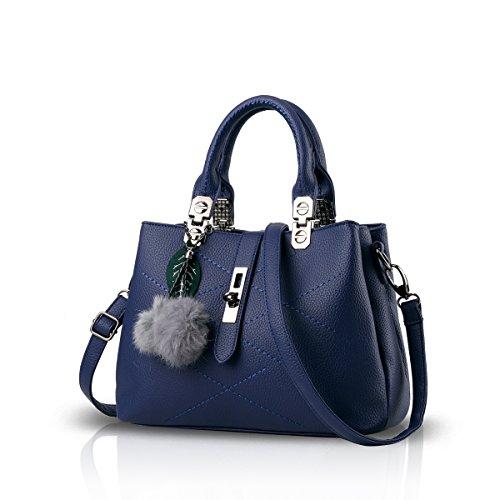 NICOLE & DORIS 2019 Neue Welle Paket Kuriertasche Damen weiblichen Beutel Handtaschen für Frauen Handtasche Blau