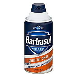 Barbasol Thick & Rich Shaving Cream Sensitive Skin, 10. 0 OZ