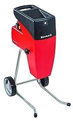 Einhell Elektro-Leisehäcksler GC-RS 2540 (2000 W, max. 40 mm Aststärke, Schneidwalze, Drehrichtungsumschalter, große Trichteröffnung, robustes Fahrgestell, inkl. Gartenabfallsack)