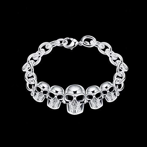 JOJOmay Mädchen Schmuck Armband Europäische und amerikanische Modeschmuck Kreatives Schädel-Silberarmband