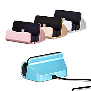 ONNEXT iPhone Desk Charger Dock,Charge and Sync Dock with Lightning Cable Connector for iPhone 5s iPhone 6 iPhone 6s plus and iPod touch 5th Gen,iPhone Charger Station (Rose Golden)