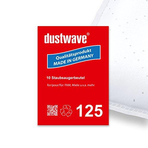 Sparpack - 10 Staubsaugerbeutel geeignet für Miele - S143 / S 143 Staubsauger - dustwave® Markenstaubbeutel / Made in Germany + inkl. Microfilter
