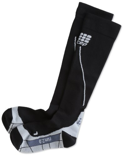 CEP Herren Strumpf Progressive+ Run Socks 2.0, Black/Grey, IV, WP55V33