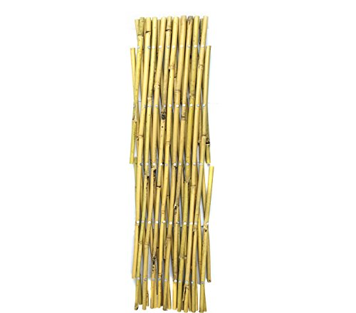 377512 Valla de bambú extensible para jardín jardín 60x240 cm