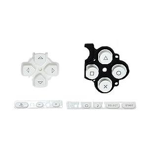 OSTENT Buttons Key Pad Set Reparatur Ersatz Kompatibel für Sony PSP 3000 Slim Konsole – Farbe Weiß