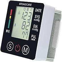 BROADCARE Handgelenk Blutdruckmessgerät Digitales USB Wiederaufladbare Elektronische Vollautomatische Blutdruck- und Pulsmessung am Armband mit 2 Benutzer (2x 99 speicherbare Messungen) für Heimgebrauch