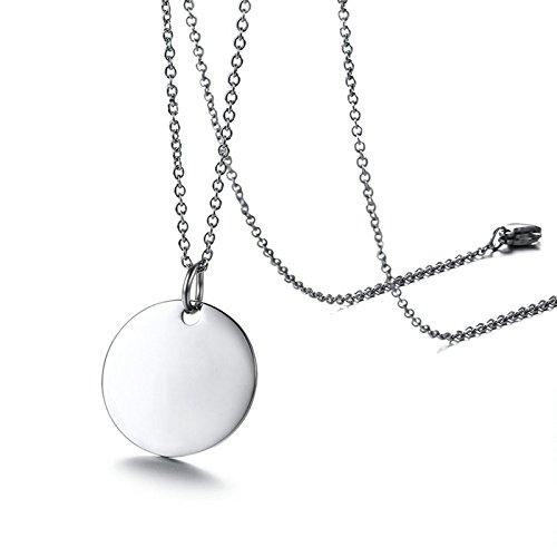 SonMo 925 Sterling Silber Halskette Herren Personalisierte Kreuz Kette Zum Öffnen Runden Erliebte Paar Schmuck für Sie Und Ihn Silber Geburtstag Geschenk