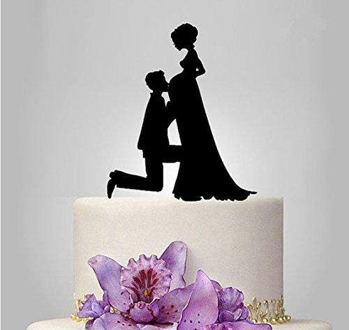 ShinyBeauty schwanger Cake Topper Vater Kiss Baby Cake Topper Glück Cake (Prinzessinnen Disney Liste Aller)