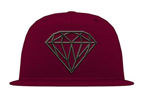 TRVPPY 5-Panel Snapback Cap Modell Diamant Diamond, Weiß-Schwarz, B610